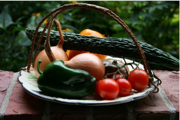 Plate of Vegetables, Nebraska Extension Acreage Insights July 2017. http://acreage.unl.edu/enews-july-2017