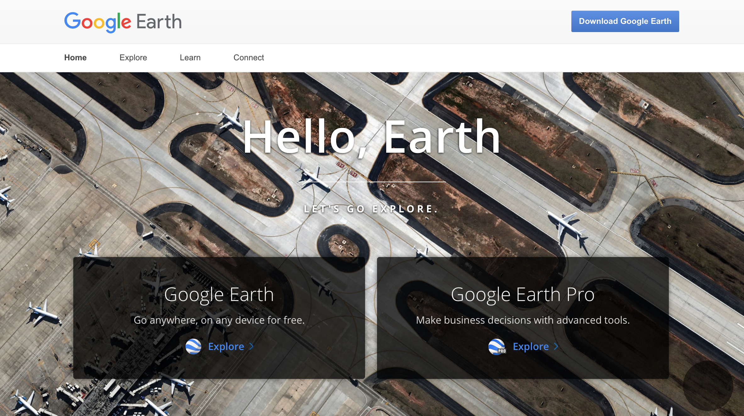 screen shot of google earth