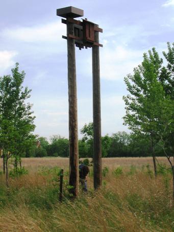 Bat house on pole