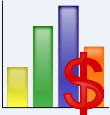 Clipart of a bar graph.