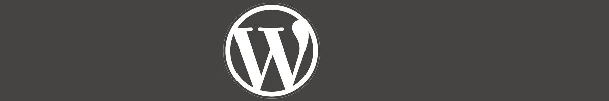 brown banner with wordpress icon